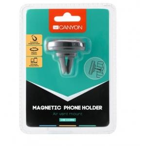 Automobilinis universalus telefono laikiklis CANYON CNE-CCHM2 tvirtinamas ant ventiliacijos grotelių, magnetinis, juodas