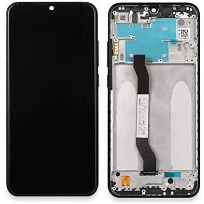 Ekranas Xiaomi Redmi Note 8T su lietimui jautriu stikliuku su rėmeliu juodas originalus (service pack)