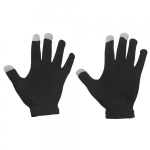 Universalios žieminės pirštinės lietimui jautriems stiklams juodos