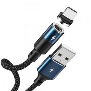 USB kabelis REMAX Magnetic microUSB 1.2m (3A) juodas