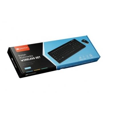 Belaidė klaviatūra+pėlė CANYON CNS-HSETW3-LT juoda
