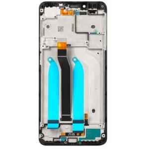 Ekranas Xiaomi Redmi 6 / 6A su lietimui jautriu stikliuku su rėmeliu juodas originalus (service pack)