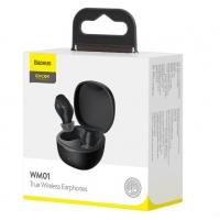 Belaidė laisvų rankų įranga Baseus TWS Encok WM01 (Airpods) juoda