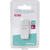 Kortelių skaitytuvas Omega (microSD / HC USB 3.0) baltas