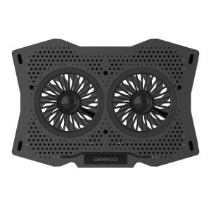 Nešiojamas aušintuvas OMEGA 2 FANS (USB) juodas