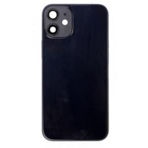 Galinis dangtelis iPhone 12 mini juodas (bigger hole for camera) HQ