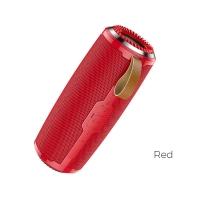 Bluetooth nešiojamas garsiakalbis HOCO BS38 (MicroSD,AUX,FM) raudonas