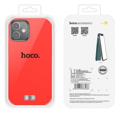 Dėklas  Hoco Pure Series  Apple iPhone 12 Pro Max raudonas