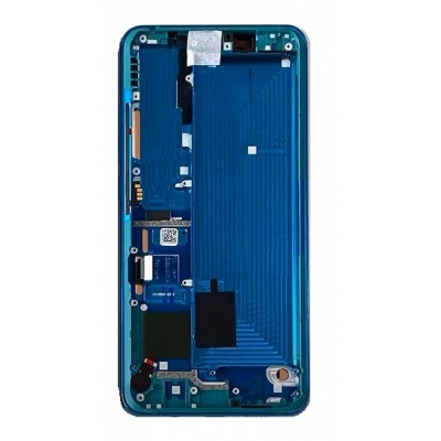 Ekranas Xiaomi Mi Note 10 / Mi Note 10 Pro su lietimui jautriu stikliuku su rėmeliu žalias originalus (service pack)