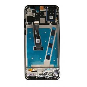 Ekranas Huawei P30 Lite 48MP su lietimui jautriu stikliuku ir rėmeliu juodas HQ