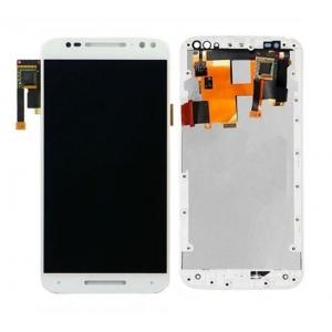 Ekranas Motorola Moto X Style XT1575 su lietimui jautriu stikliuku ir rėmeliu baltas HQ