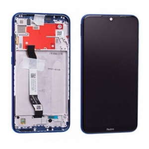 Ekranas Xiaomi Redmi Note 8T su lietimui jautriu stikliuku su rėmeliu mėlynas originalus (service pack)