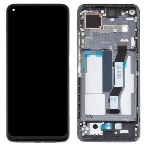 Ekranas Xiaomi Mi 10T su lietimui jautriu stikliuku su rėmeliu juodas originalus (service pack)