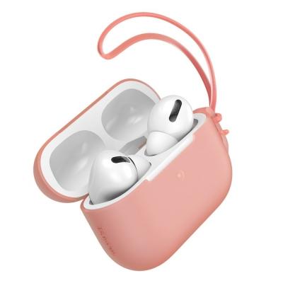 Dėklas Baseus Silica Gel Airpods Pro rožinis