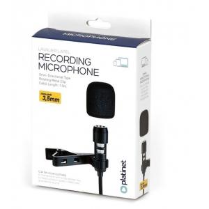 Mikrofonas PLATINET LAVALIER LAPEL juodas
