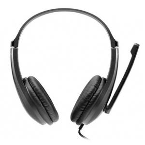 Laisvų rankų įranga CANYON HSC-1 basic su mikrofonu juoda (2m laidas)