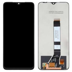 Ekranas Xiaomi Poco M3 su lietimui jautriu stikliuku juodas HQ