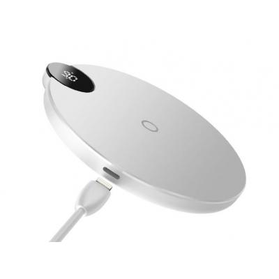 Belaidis įkroviklis Baseus Led Display WXSX-02 10W (palaiko QI standartą) baltas