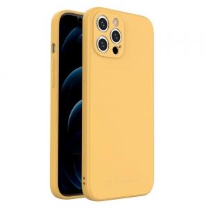 Dėklas Wozinsky Color Case Silicone Apple iPhone 12 Pro Max geltonas