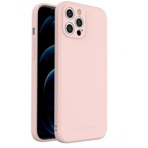 Dėklas Wozinsky Color Case Silicone Apple iPhone 12 rožinis