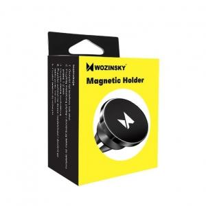 Automobilinis universalus telefono laikiklis Wozinsky WMH-04 tvirtinamas ant ventiliacijos grotelių, magnetinis, juodas