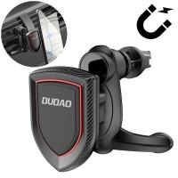 Automobilinis universalus telefono laikiklis Dudao F6PRO tvirtinamas ant ventiliacijos grotelių, magnetinis, juodas