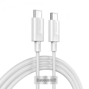 USB kabelis Baseus Xiaobai  USB-C (Type-C) to USB-C (Type-C)  (100W 5A) baltas 1.5M