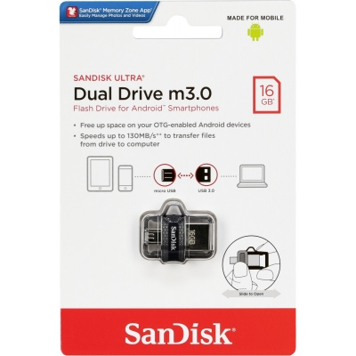 Atmintinė SanDisc Ultra Dual Drive 16GB USB 3.0