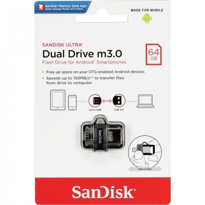 Atmintinė SanDisc Ultra Dual Drive 64GB USB 3.0