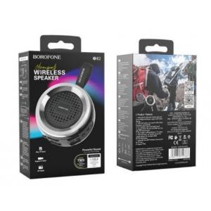 Bluetooth nešiojamas garsiakalbis BOROFONE Aurora BR2 juodas