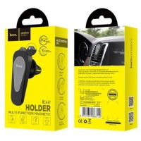 Automobilinis universalus telefono laikiklis HOCO CA37 tvirtinamas ant ventiliacijos grotelių, magnetinis, juodas
