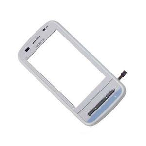 Lietimui jautrus stikliukas Nokia C6-00 su rėmeliu baltas HQ