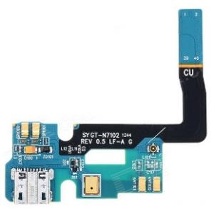 Lanksčioji jungtis Samsung N7100 Note 2 su įkrovimo kontaktu ir mikrofonu ORG