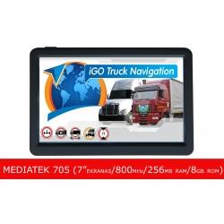 GPS Navigacija Mediatek 705 (7, iGO, microSD, FM, MP4, FM, E-Book, 8GB, 256MB RAM) black